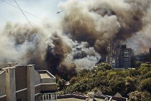 Пожар в центре Ростова ©Фото со страницы instagram.com/henry_boatman/