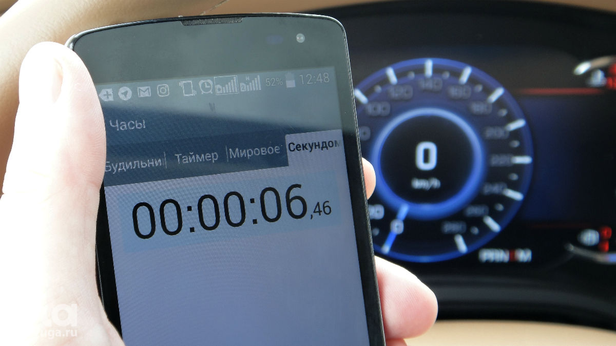 Разгон с места до 100 км/ч получился быстрее паспортного ©Фото Евгения Мельченко, ЮГА.ру