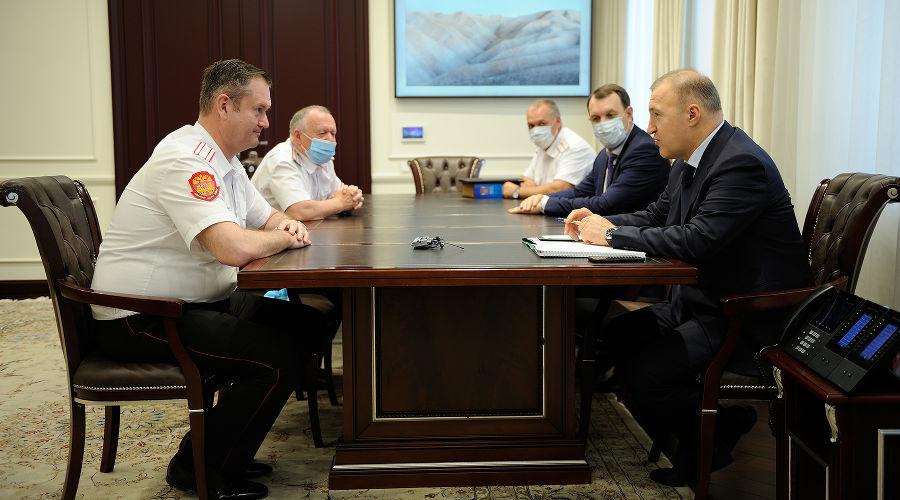 Сергей Пуликовский и Мурат Кумпилов ©Фото пресс-службы главы Республики Адыгея