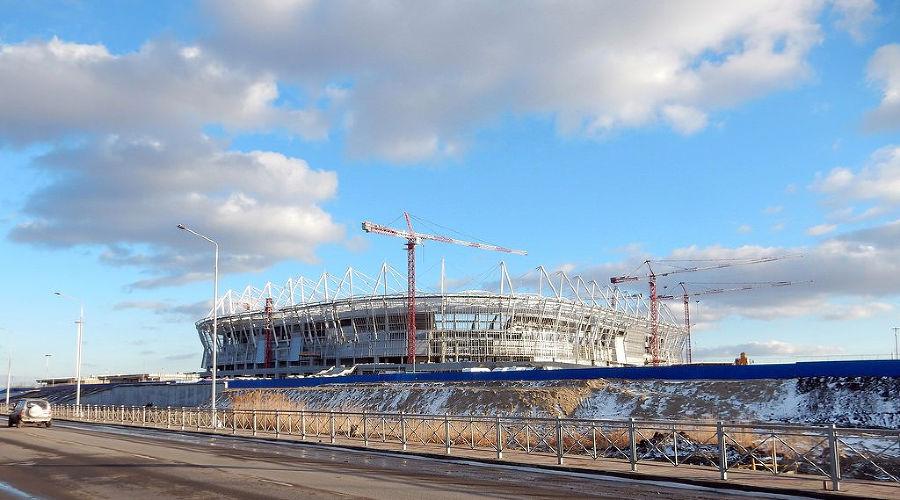 Строительство стадиона «Ростов-Арена» ©Фото с сайта craneves.ru