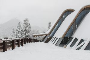 Первый снег в Красной Поляне ©Фото Юга.ру