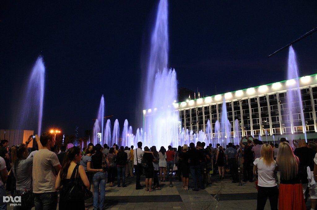 ВКраснодаре запустили два первых городских фонтана