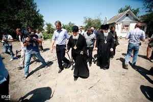 Патриарх Кирилл в Крымске ©Фото пресс-службы администрации Краснодарского края
