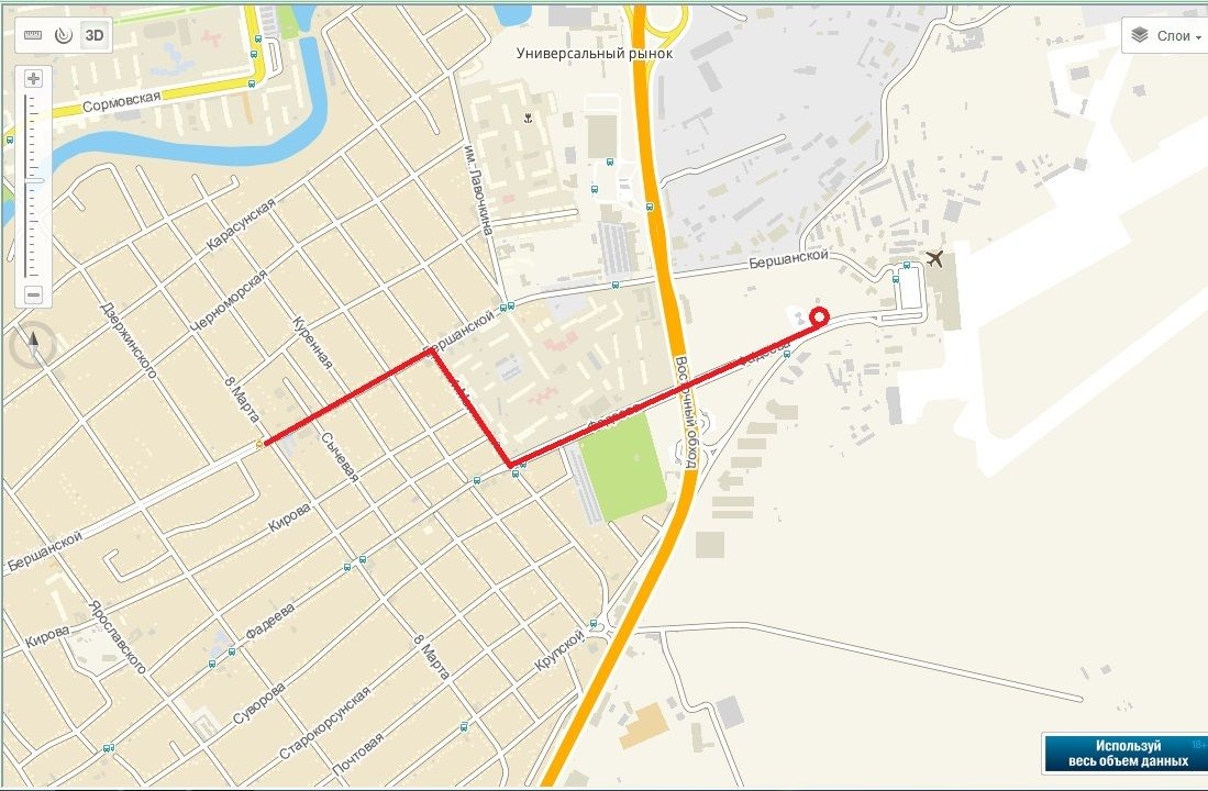 Улица Бершанской ©Инфографика предоставлена Центром мониторинга дорожного движения и транспорта