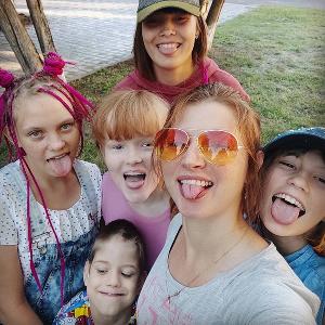 Ксения Ращупкина с детьми