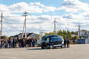 Презентация беспилотного электробуса в «Сколково» ©Фото пресс-службы «Ростелекома»