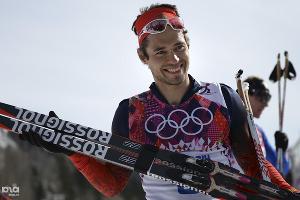Илья Черноусов - бронзовый призер масс-старта в соревнованиях по лыжным гонкам ©РИА Новости