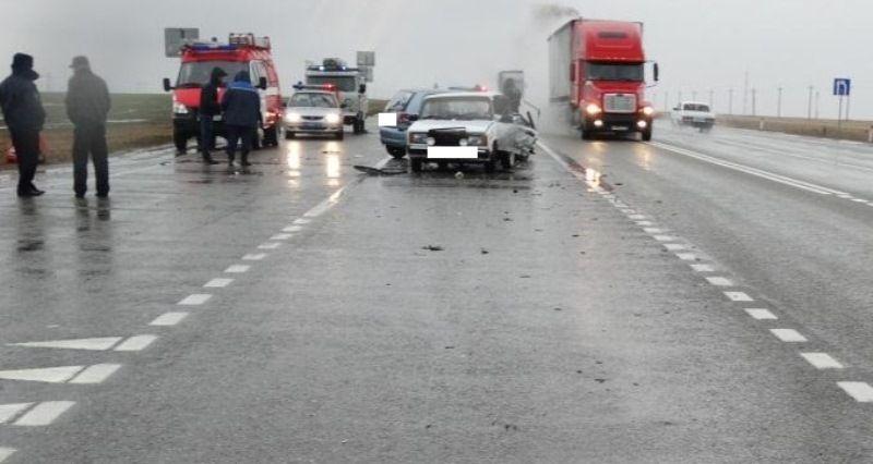 НаСтаврополье неверный разворот привёл кавтоаварии стремя пострадавшими