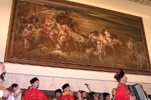 """Презентация картины """"Переселение запорожских казаков на Кубань"""" ©Фото Юга.ру"""