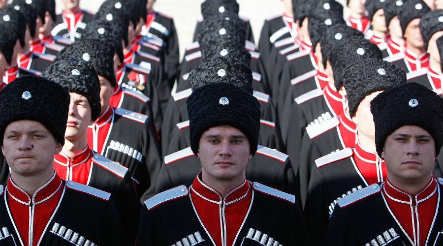 Построение казаков, участвующих в Параде Победы в Москве ©Фото Влада Александрова, Юга.ру