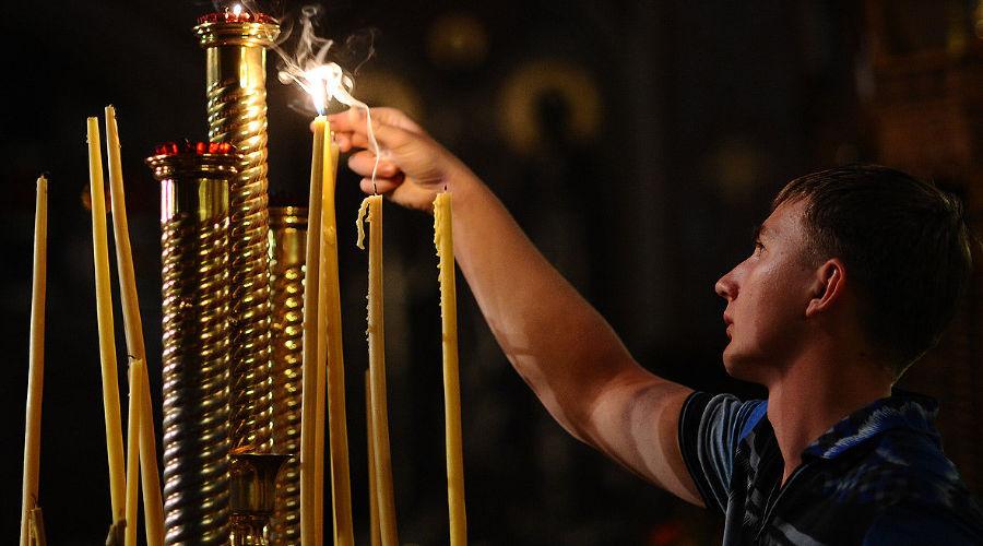 Пасха в Свято-Екатерининском кафедральном соборе Краснодара ©Алёна Живцова, ЮГА.ру