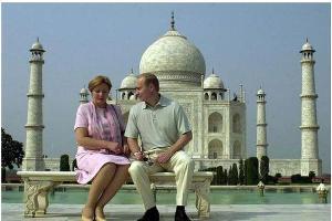 Людмила Путина и Владимир Путин в Индии ©maxpark.com