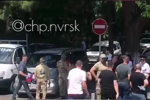 ©Скриншот видео из телеграм-канала «ЧП Новороссийск», t.me/chpnvrsk