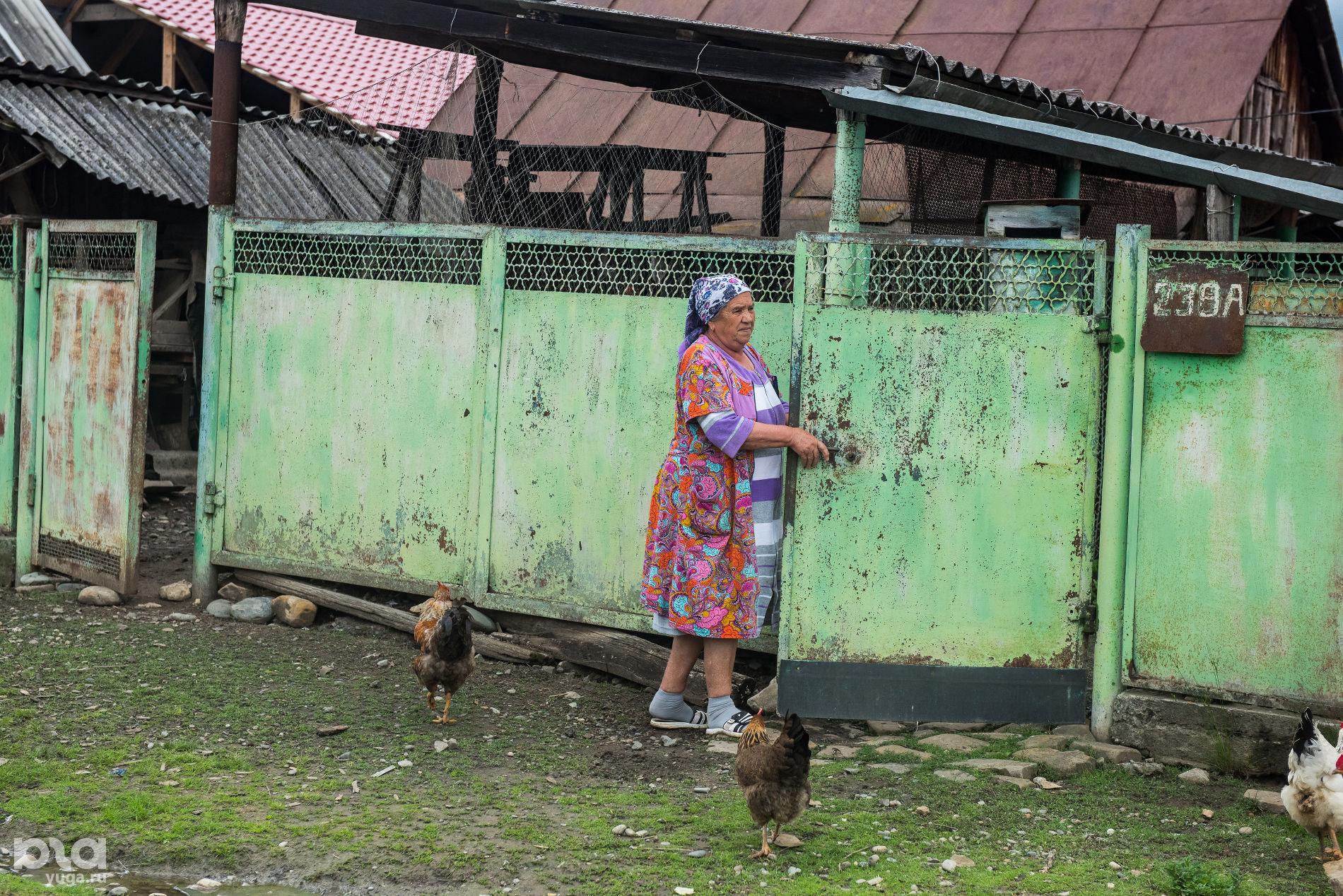 Жительница поселка Псебай ©Фото Елены Синеок, Юга.ру