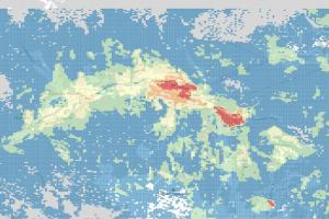 Скриншот геоаналитики, Красная поляна ©Изображение пресс-службы МТС