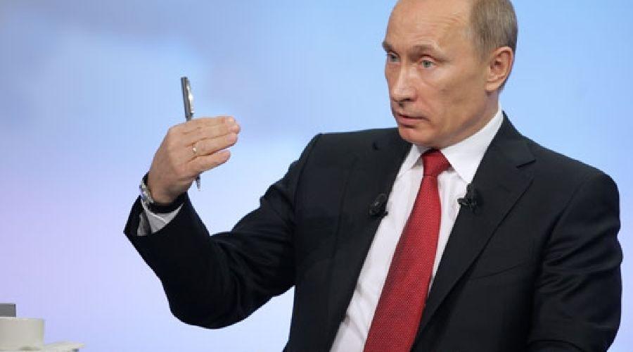 """Программа """"Разговор с Владимиром Путиным"""", 16 дек 2010 ©Фото Юга.ру"""
