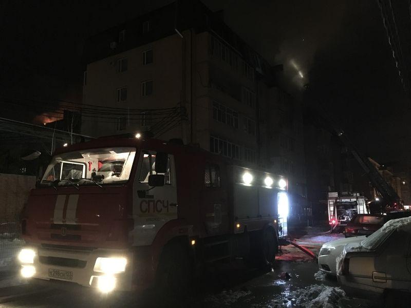 В6-этажном доме вКраснодаре произошел пожар