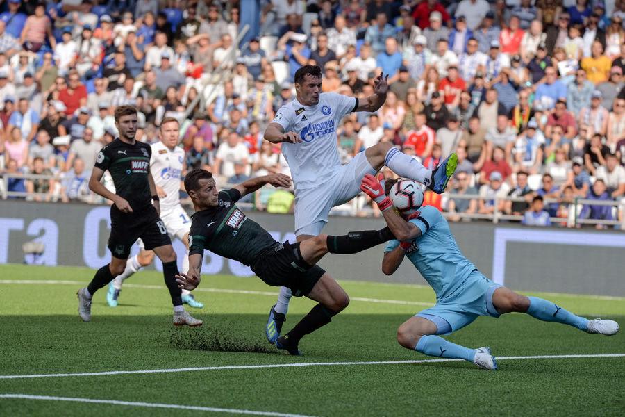 Матч «Оренбург» — «Краснодар» в Оренбурге 26 августа 2018 года ©Фото пресс-службы ФК «Оренбург»