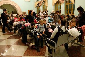 Кубанских детей проводили на Кремлевскую елку ©Влад Александров, ЮГА.ру