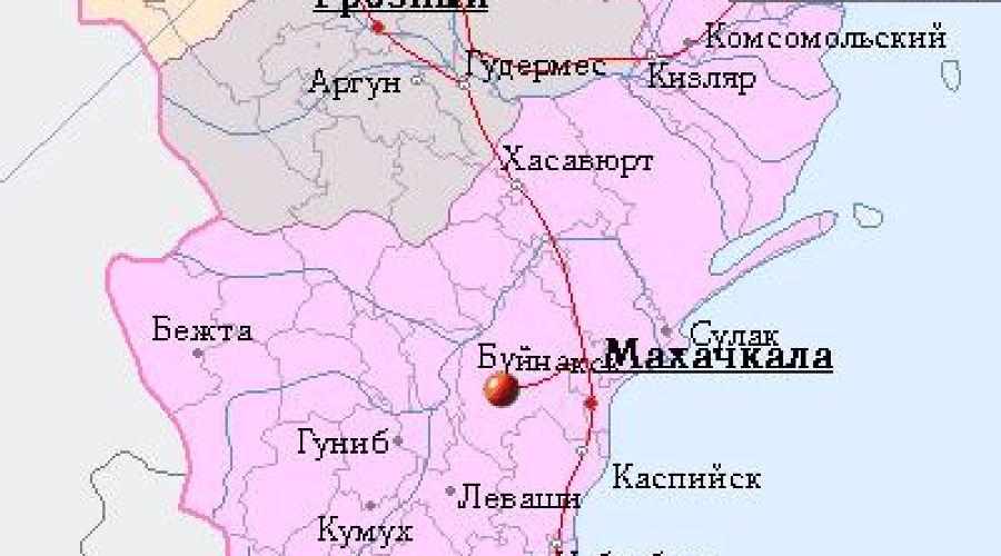 Карта Дагестана ©nakarte.ru