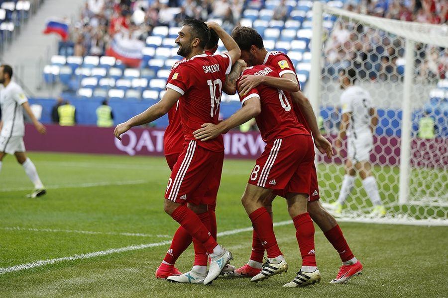 Сборная РФ одержала победу впервом матче Кубка конфедераций
