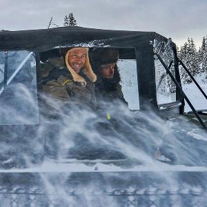 Руслан Байсаров во время командировки в Тыве