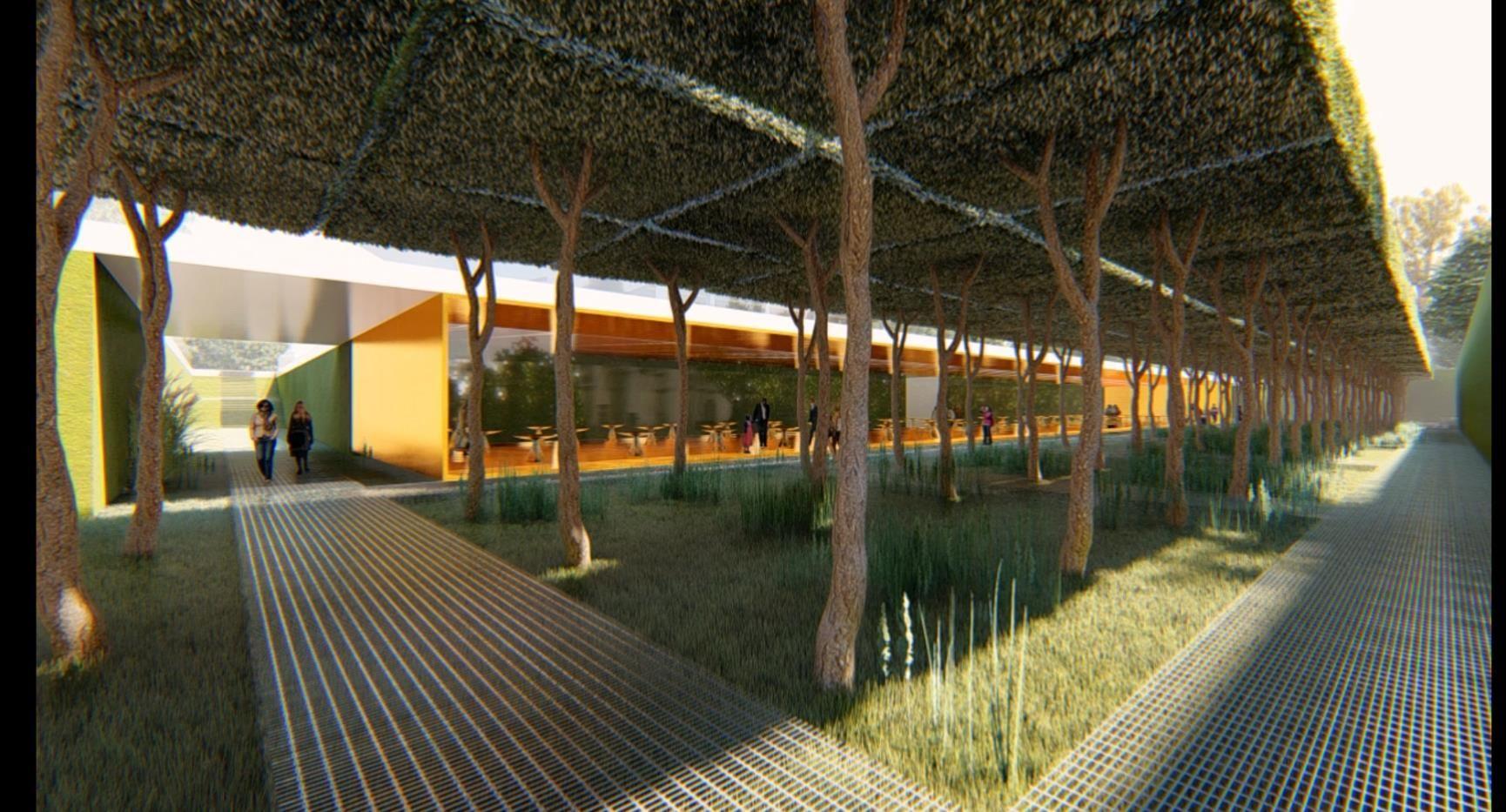 Вариант озеленения внутреннего двора ©Фото из презентации пресс-службы администрации Краснодара