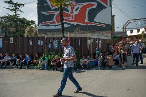 Митинг в поддержку президента Абхазии в Сухуме ©Нина Зотина, ЮГА.ру