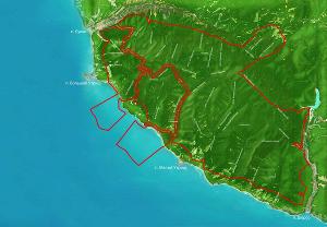 Границы территории заповедника
