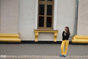"""Двухэтажный """"олимпийский"""" железнодорожный состав ©Алёна Живцова, ЮГА.ру"""