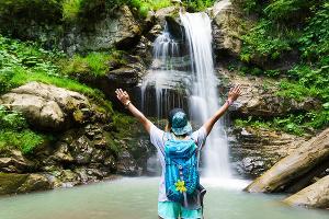 Водопад ©Изображение пресс-службы курорта «Роза Хутор»