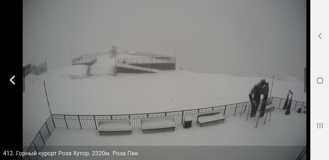 Майский снег в горах Сочи ©Фото пресс-службы курорта «Роза Хутор»