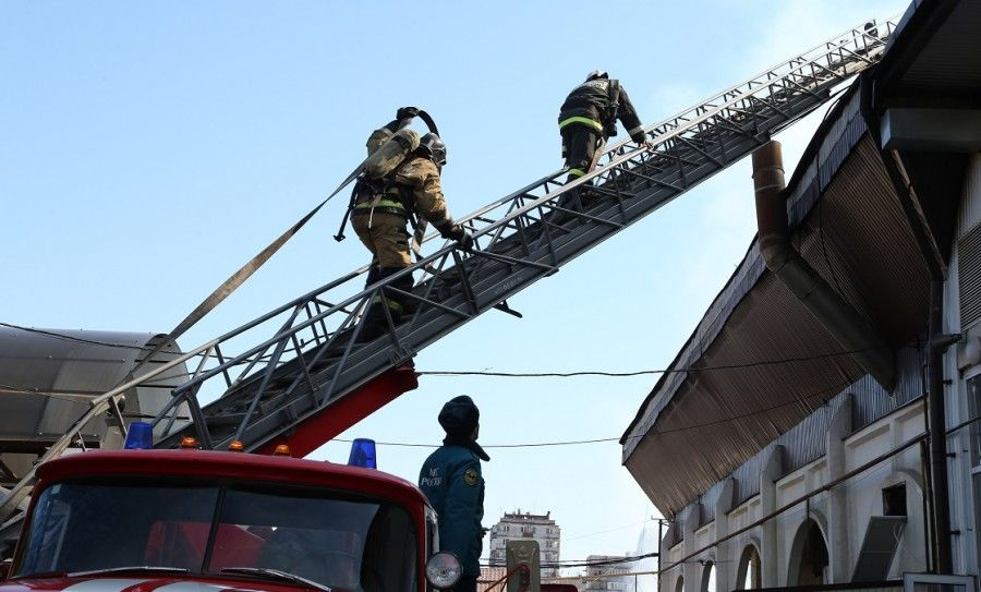 В Нальчике назвали предварительную причину пожара на рынке