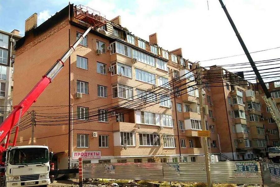 Вдоме наПрокофьева начинаются восстановительные работы ввыгоревших квартирах
