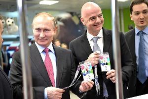 Владимир Путин и Джанни Инфантино ©Фото с сайта kremlin.ru