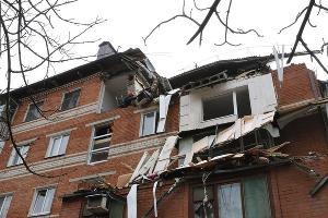 Взрыв бытового газа на улице Славянской, 75 в Краснодаре ©Фото пресс-службы администрации Краснодара
