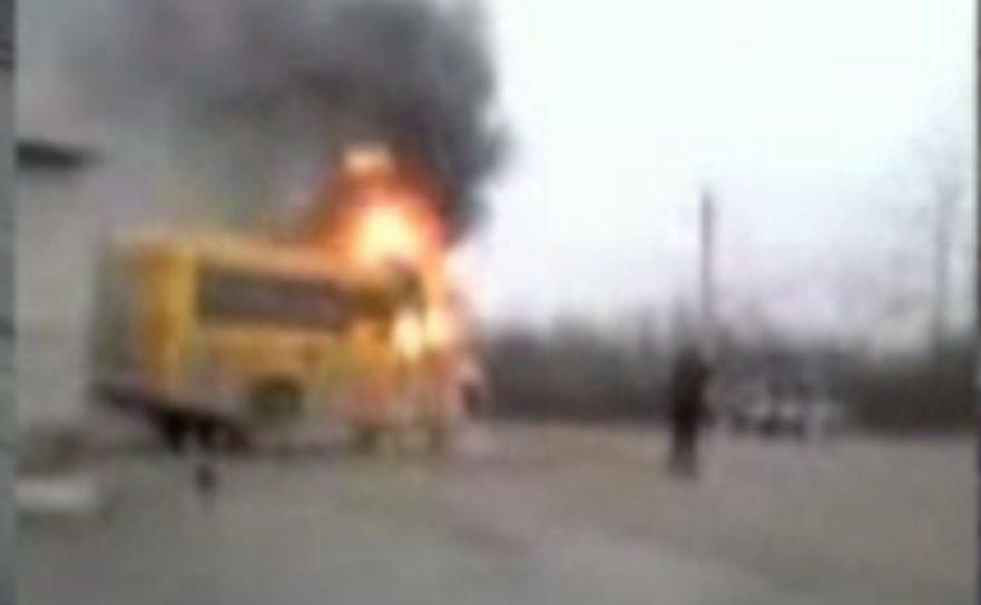 ВКрымском районе сгорел ученический автобус