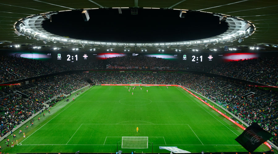 Матч 12-го тура РПЛ «Краснодар» — «Спартак» ©Фото пресс-службы ФК «Краснодар»