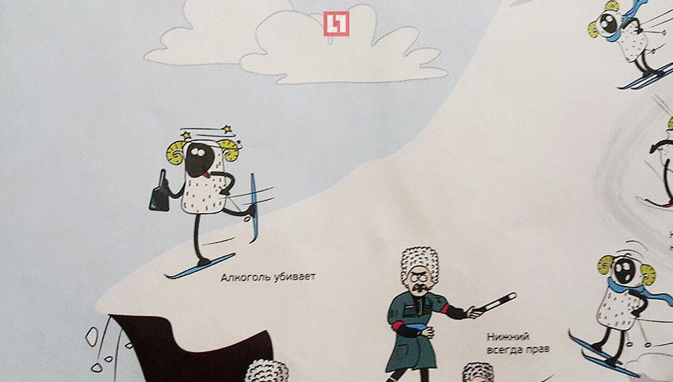 «Курорты Северного Кавказа» пояснили изображение туристов ввиде баранов