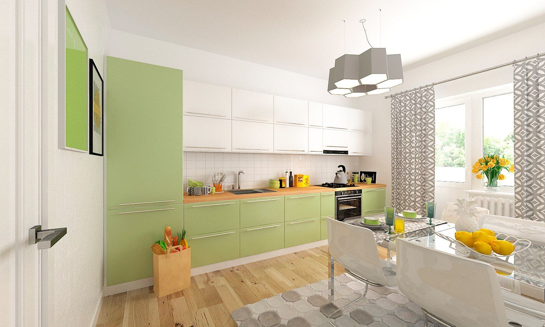 скандинавия_ кухня с мебелью ©Фото Юга.ру
