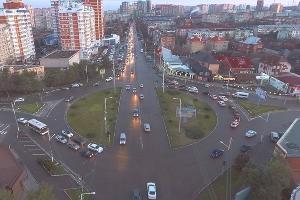 Кольцо на пересечении улиц Красных Партизан и Тургенева в Краснодаре ©Фото пресс-службы администрации Краснодара