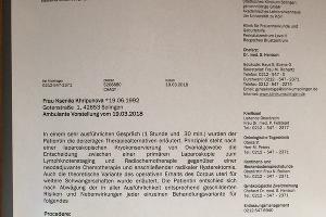 План лечения из клиники St?dtischen Klinikum Solingen (Германия) ©Юга.ру