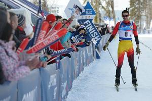 III Всемирные зимние военные игры.  Патрульная гонка на соревнованиях по биатлону ©Фото Никиты Быкова, Юга.ру