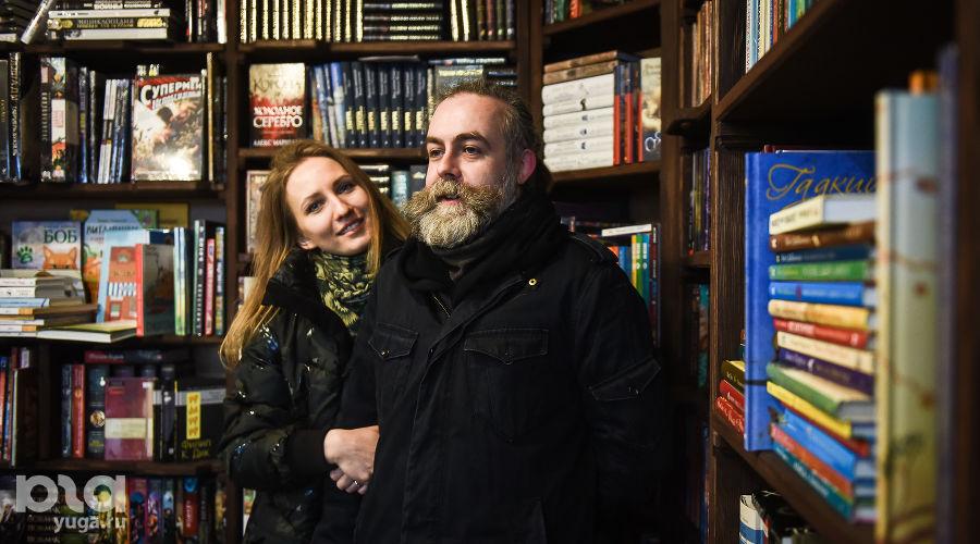 Татьяна Мадонова и Евгений Соколов, книжный магазин «Кот ученый» ©Фото Елены Синеок, Юга.ру