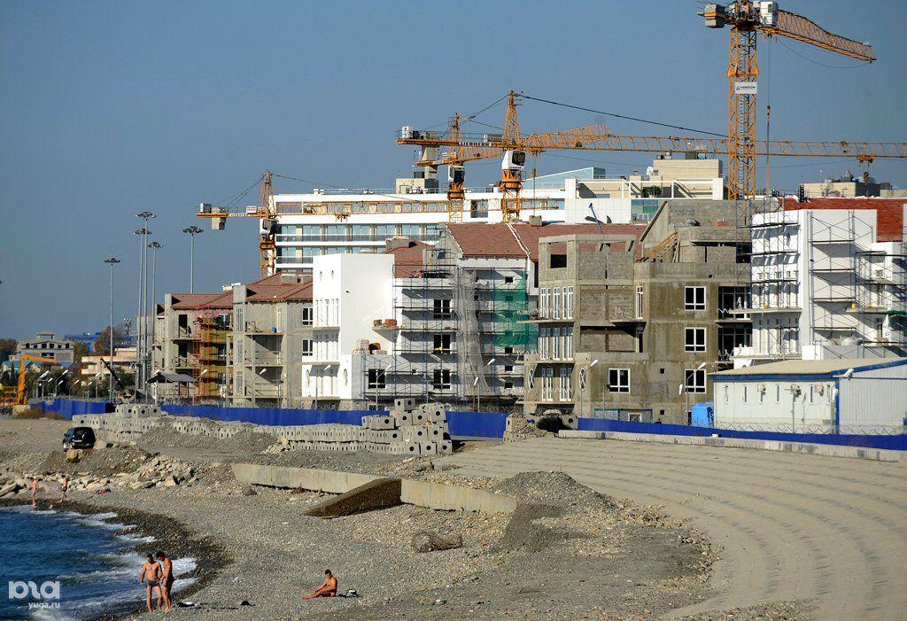 фото строительства основной олимпийской деревни этом