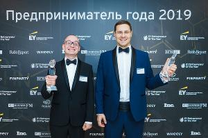 Иван Куккоев (слева) и Иван Романченко на церемонии Entrepreneur Of the Year Awards