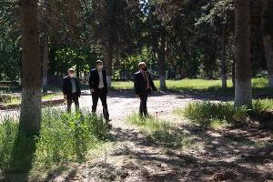 Начало реконструкции парка им. Семыкина ©Изображение пресс-службы Тбилисского района