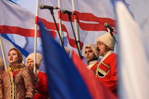 Годовщина присоединения Крыма к России ©Елена Синеок, ЮГА.ру