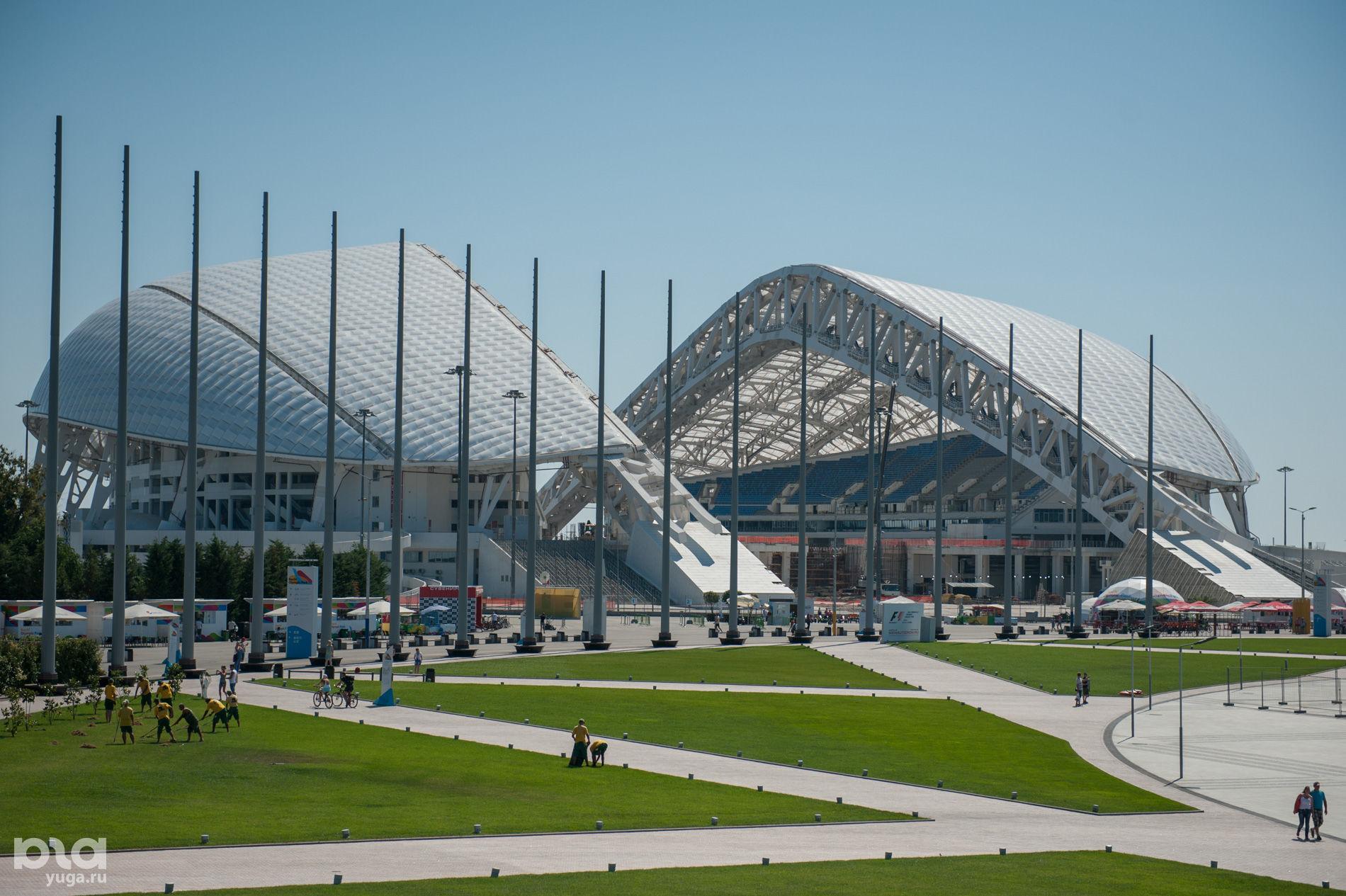 Стадион «Фишт» в Олимпийском парке в Сочи ©Юга.ру