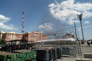 Театральную площадь готовят для фестиваля ©Фото Марии Строителевой, Юга.ру